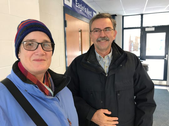Colleen and Bernard Derry voted Tuesday, March 5, around 10 a.m. at Essex Middle School.