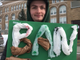 Miles Rapaport, a student at University of Vermont, encourages Ward 6 voters to support a ballot item that would nudge the city away from single-use plastic bags. Photographed March 5, 2019.
