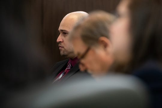 Arturo Garza sits in court  on Tuesday, March 5, 2019, during his sentencing after pleading guilty to beating his pregnant girlfriend Susanna Eguia to death.