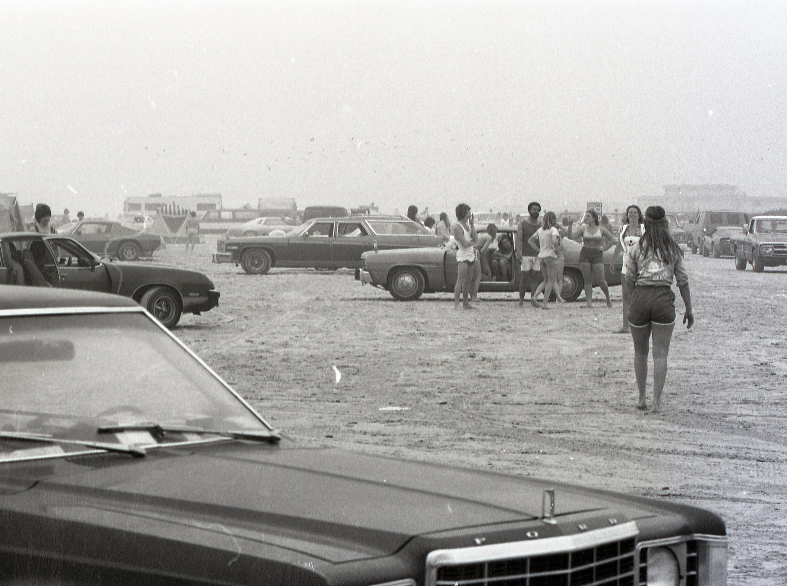 Padre and Mustang islands have both been popular with spring breakers, like these seen here on March 17, 1979.