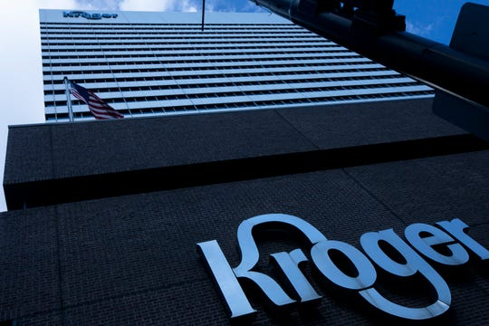 A view of the Kroger Corporation office ar 1014 Vine Street in Cincinnati on Tuesday, March 5, 2019.