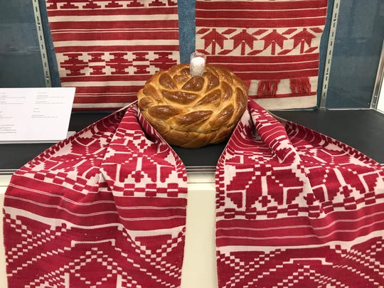 In the last decade, Natalie Pawlenko and Yuri Mischenko have collected more than 200 rushnyky - sacred Ukrainian ritual cloths - many of which can be seen at the The Ukrainian History and Education Center (UHEC) through Aug. 31.