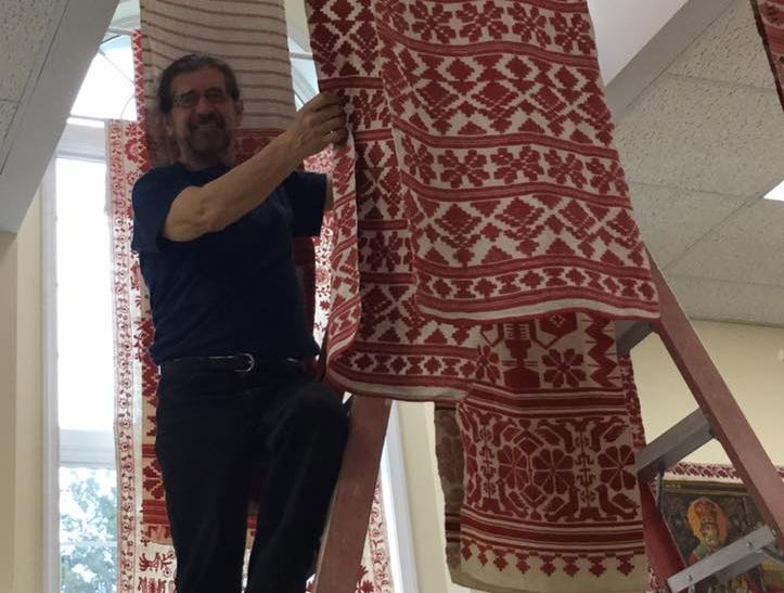 In the last decade, Natalie Pawlenko and Yuri Mischenko have collected and preserved more than 200 rushnyky - sacred Ukrainian ritual cloths - many of which can be seen at theThe Ukrainian History and Education Center (UHEC) through Aug. 31.