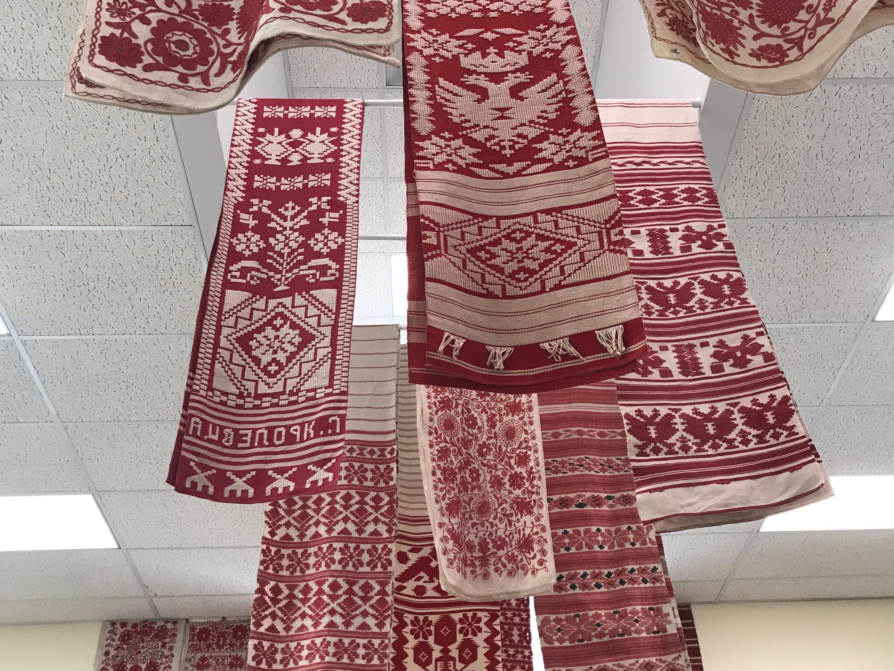 In the last decade, Natalie Pawlenko and Yuri Mischenko have collected more than 200 rushnyky - sacred Ukrainian ritual cloths - many of which can be seen at theThe Ukrainian History and Education Center (UHEC) through Aug. 31.