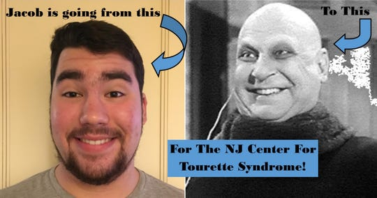 Jacob Gerbman of Fair Haven plans to shave his head for Uncle Fester role when he reaches fundraising goal for Tourette Syndrome
