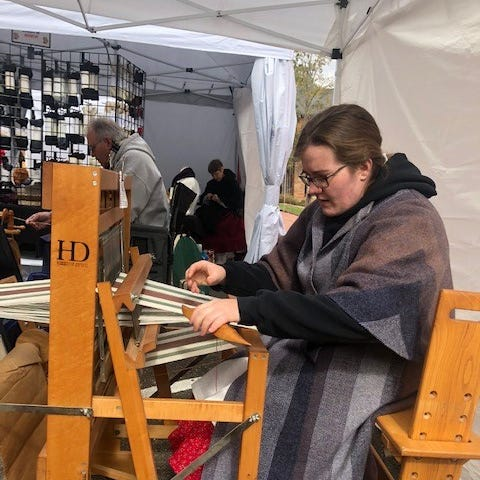 Gabby Denslow is a member of the Coshocton Canal Spinners and Weavers Guild. The group will present a workshop focusing on the basics of spinning Saturday, in the Roscoe Village Visitors Center.