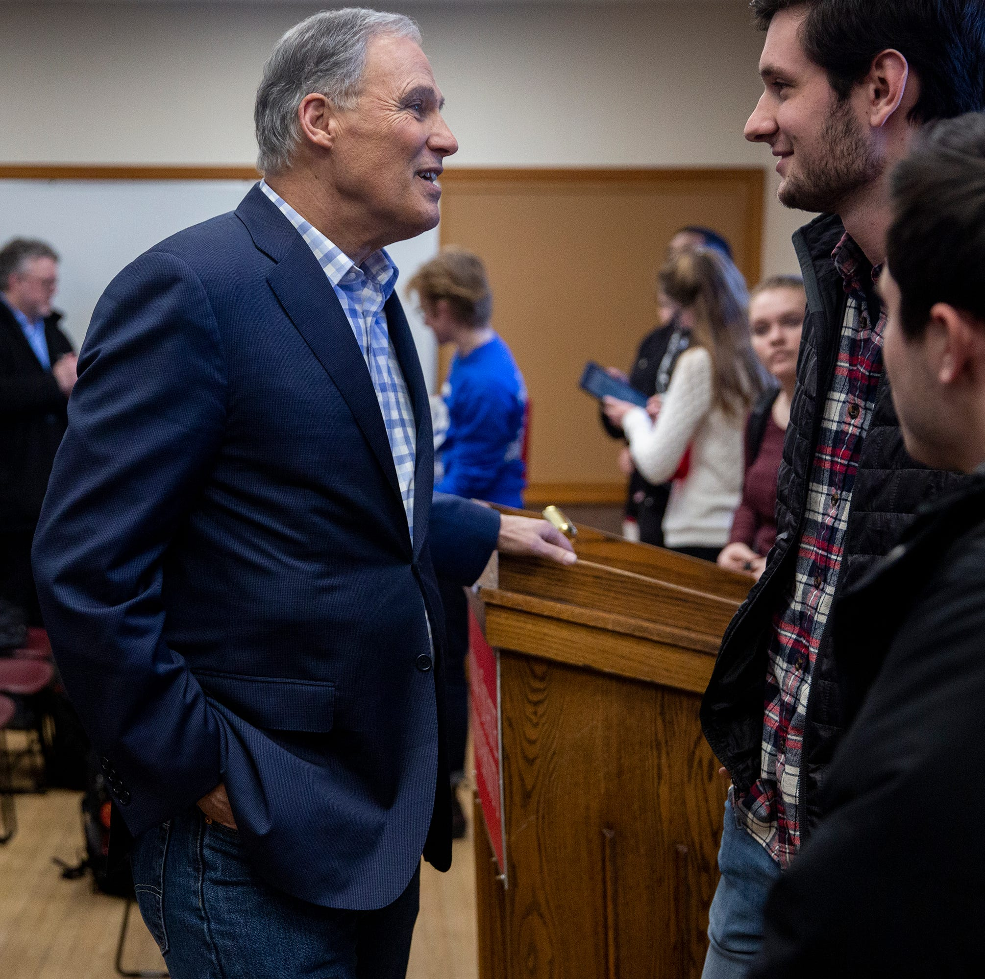 Jay Inslee brings climate change-focused campaign for first Iowa caucus stop