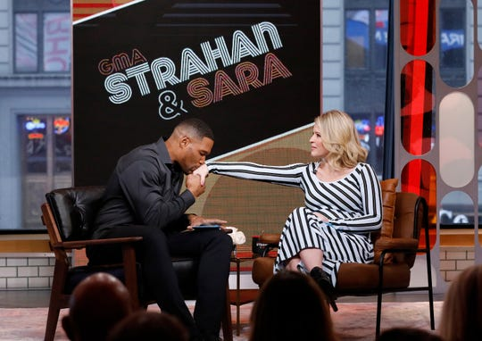 """Strahan & Sara"" on Monday, Feb. 18, 2019. (ABC/Heidi Gutman)"