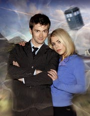 David Tennant (left) and Billie Piper of 'Doctor Who' will be appearing at the Motor City Comic Con.