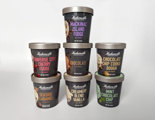 Hudsonville says pint-size containers of its ice cream will be available in some stores as early as mid-March.