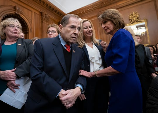 House Judiciary Committee Chairman Jerrold Nadler said his panel is beginning a probe into possible obstruction of justice, corruption and abuse of power and is sending document requests to 81 people linked to the president and his associates.