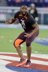 Former Mississippi offensive lineman Greg Little posted a sluggish time in the 40-yard dash.