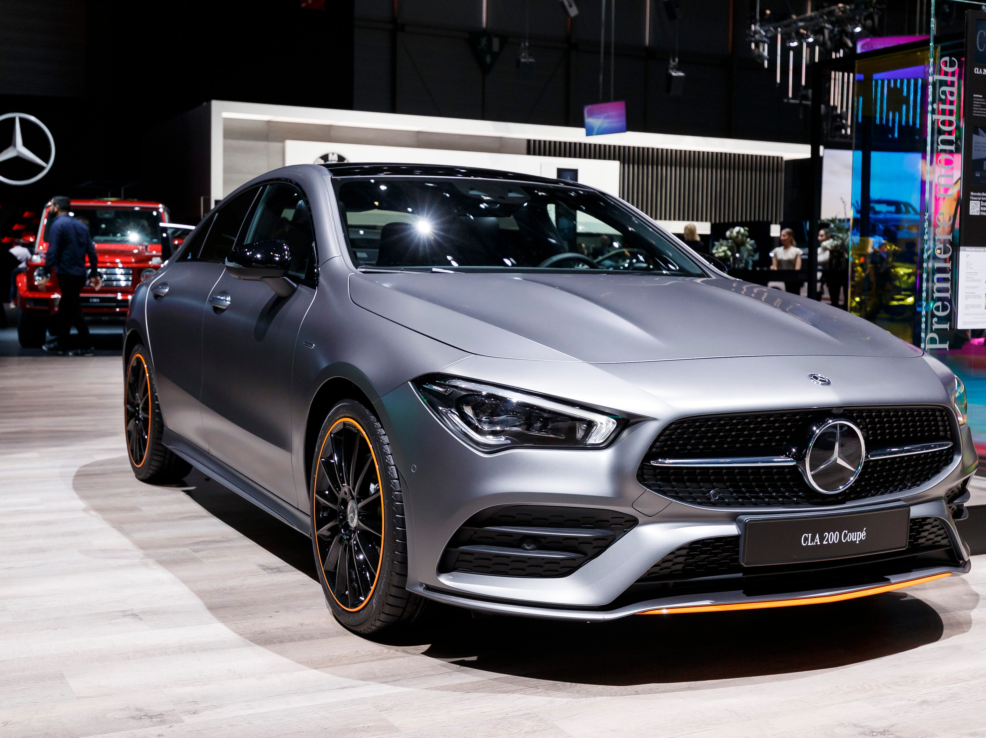 The new Mercedes-Benz GLA 200 coupe is displayed.