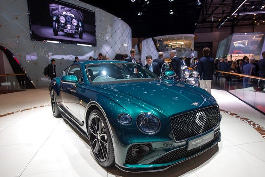 The new Bentley Motors 'Continental GT Number 9 Edition by Mulliner' car is presented during the press day at the '89th Geneva International Motor Show' on Tuesday, March 05, 2019.