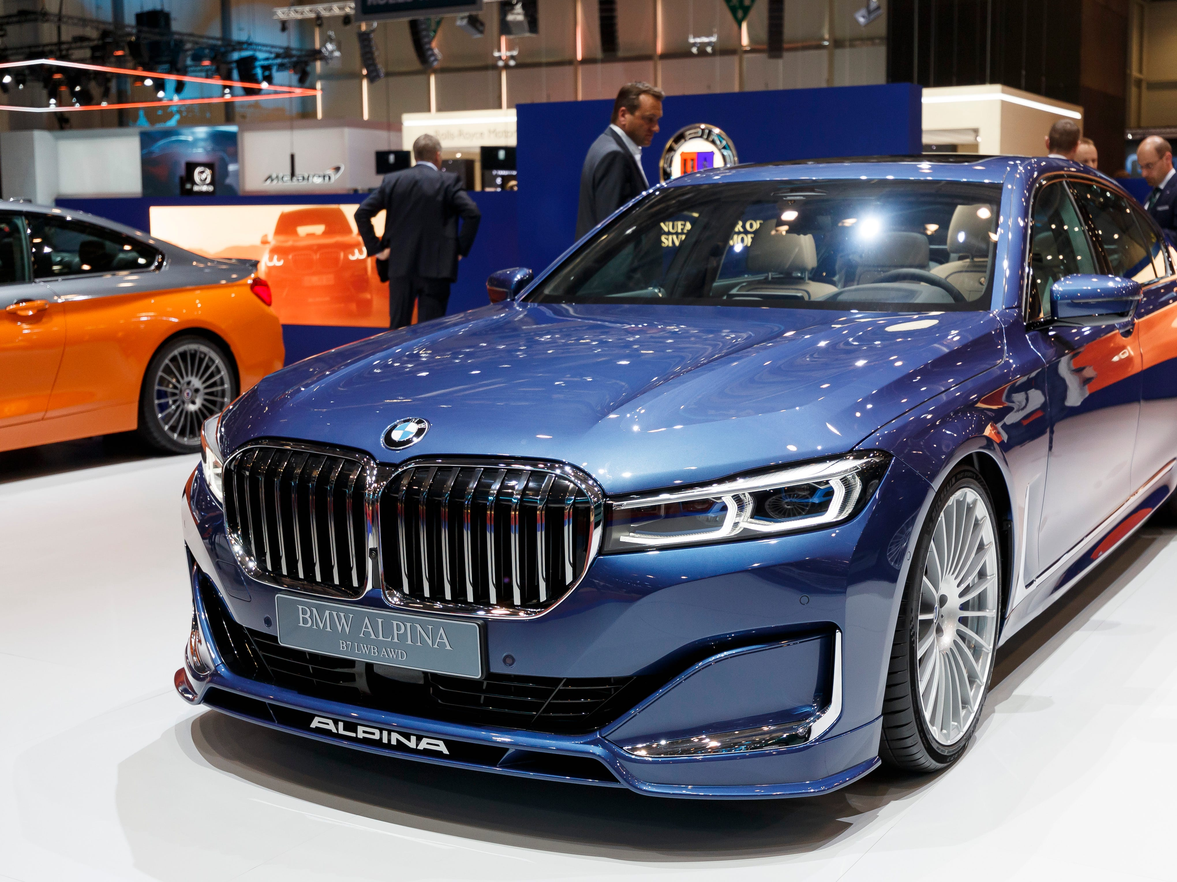 The BMW Alpina B7 is on display at the BMW booth.