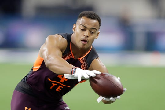 Noah Fant was one of two former Iowa tight ends who performed well at the NFL combine.
