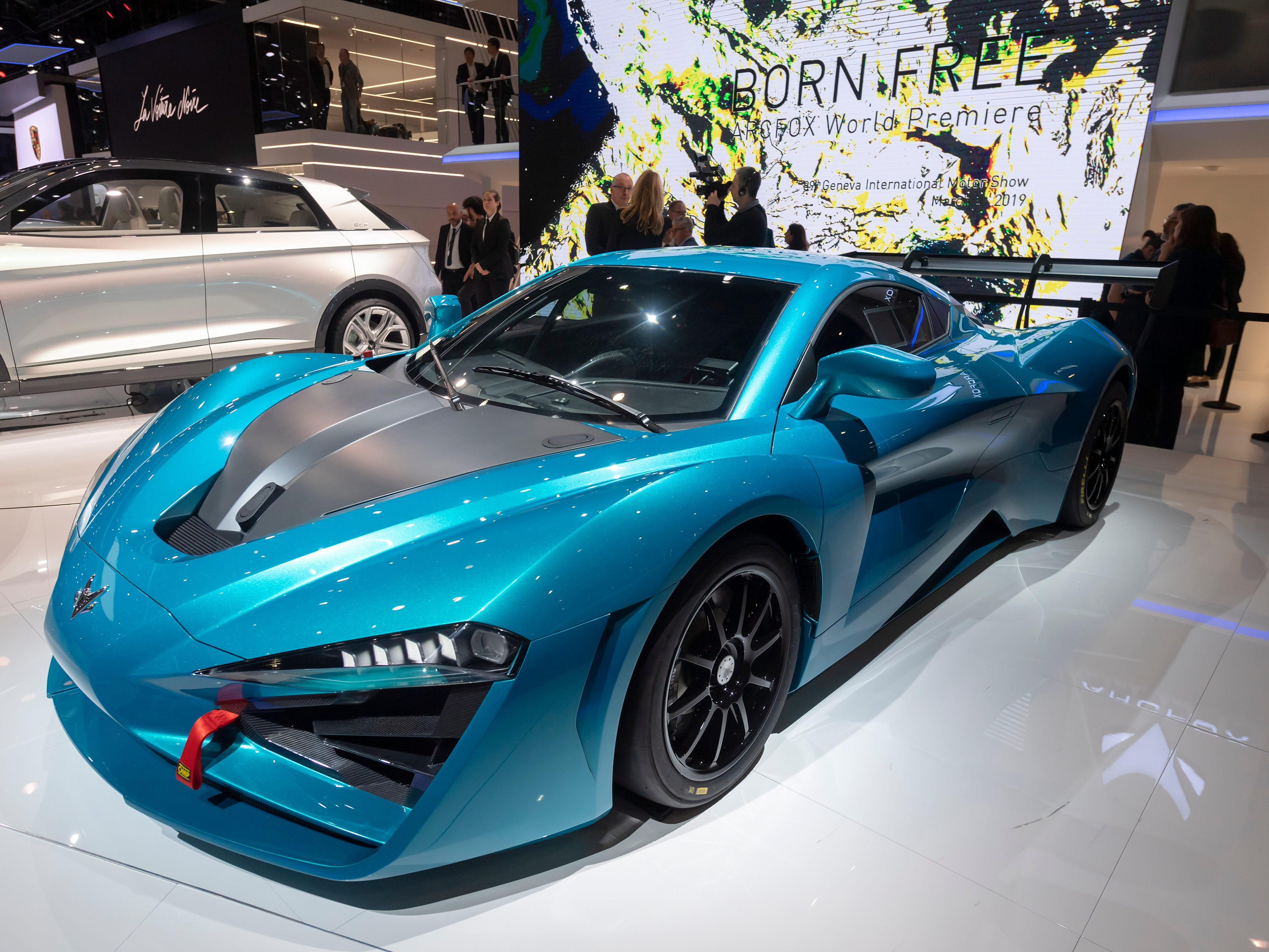 The Arcfox Arcfox-GT has its world premiere in Geneva.