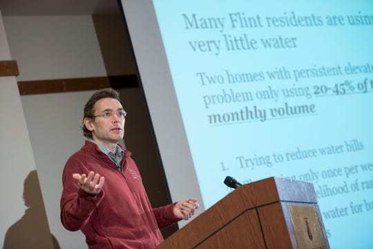 Virginia Tech Professor Marc Edwards speaks during a press conference for release of data from Flint Water Study re-testing of Flint, Michigan homes for lead in water.