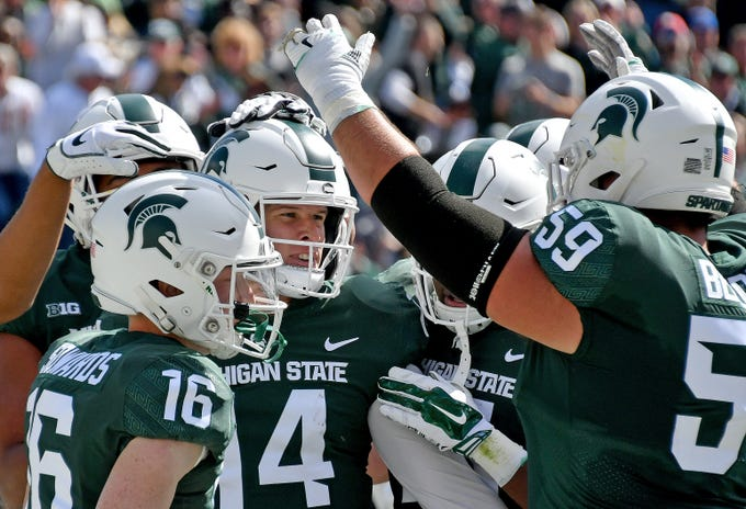Go through the gallery to view Matt Charboneau's projected starting lineup for the 2019 Michigan State football team.