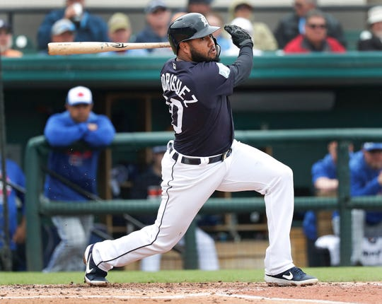 Tigers utility man Ronny Rodriguez has showcased a power surge of late.