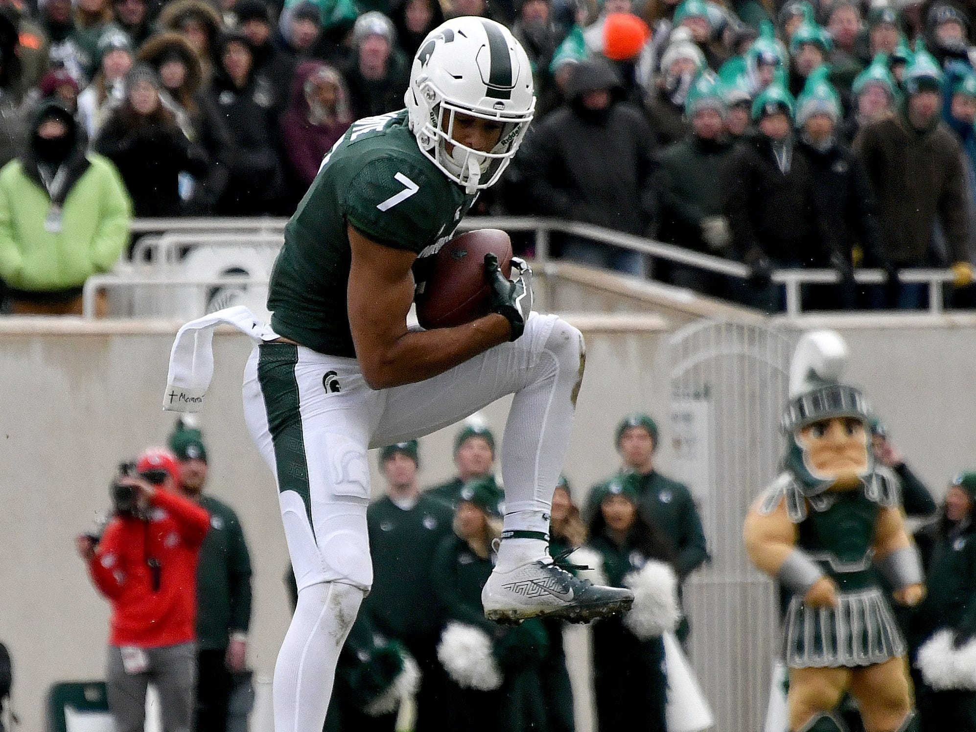 WIDE RECEIVER: Cody White -- After earning Big Ten All-Freshman team honors in 2017, White was on track for an even bigger season as a sophomore before a broken hand forced him to miss four games. He still had 42 catches and should be in the position to be one of the top receivers in the conference in 2019.