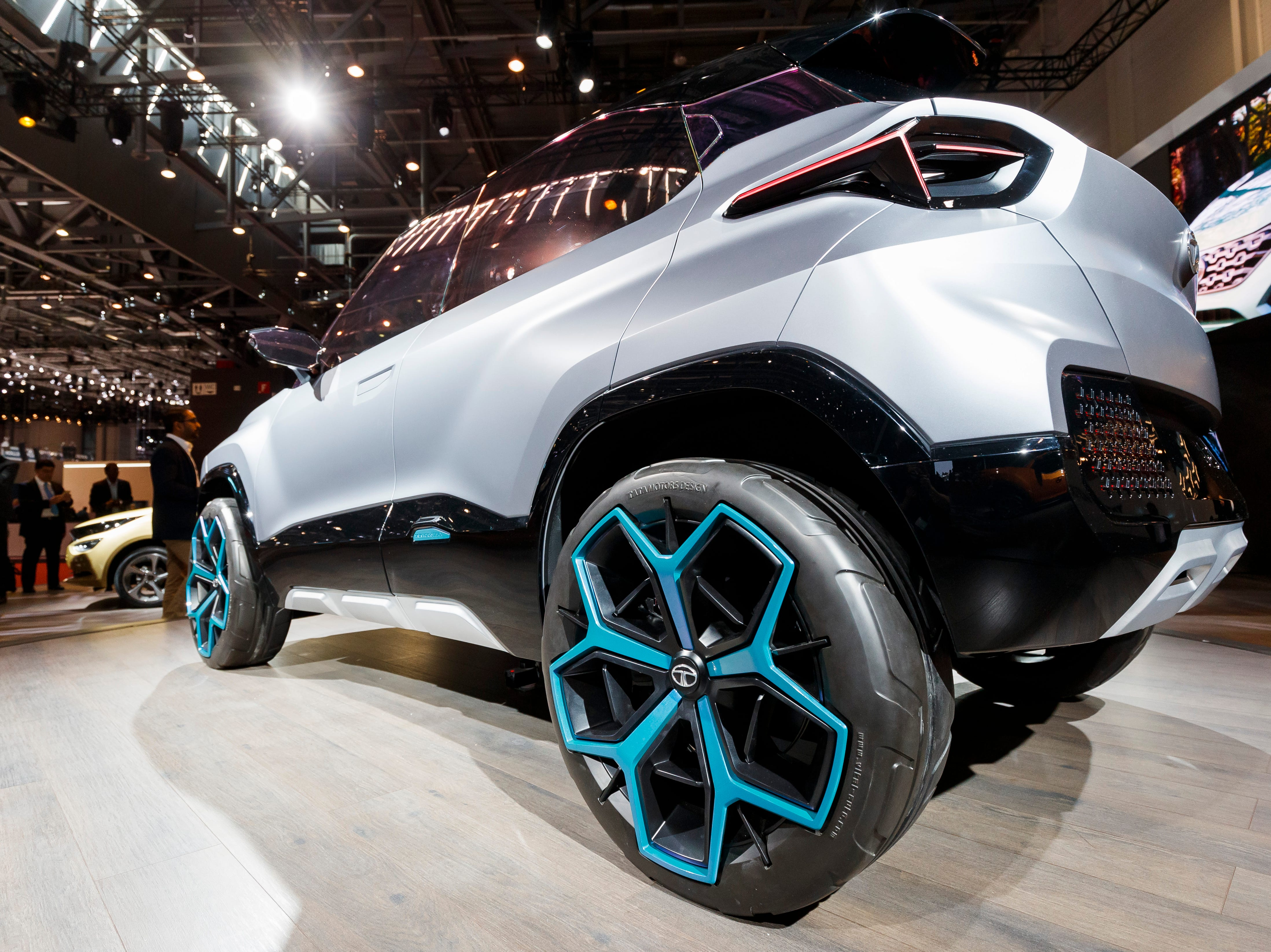 The new Tata Motors H2X concept car is introduced.