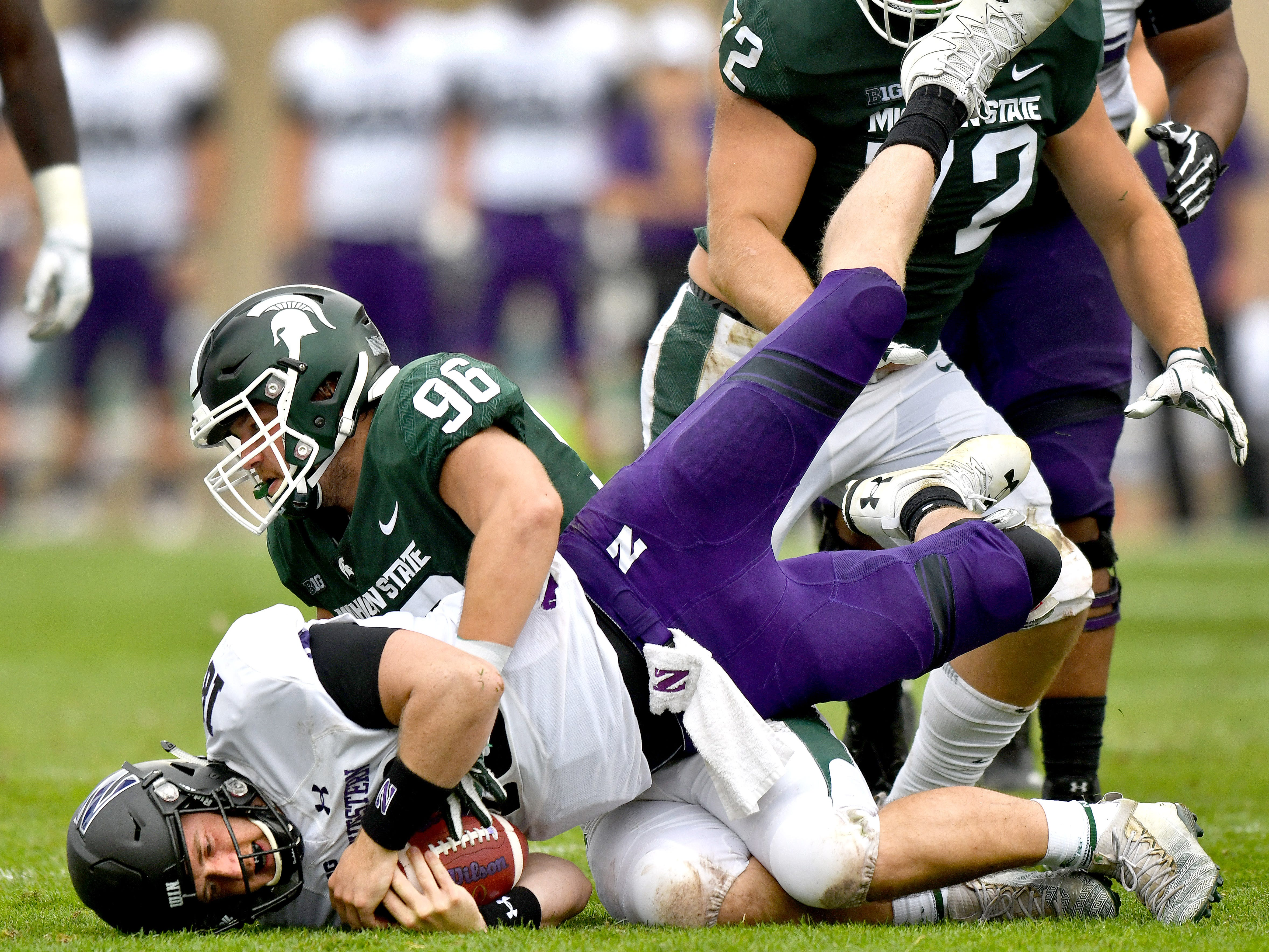 DEFENSIVE END: Jacub Panasiuk – As the Spartans have sought to increase their pass rush, Panasiuk has been the most consistent player opposite Kenny Willekes. He'll be looking to improve on his 4.5 tackles for loss and two sacks entering his junior season.