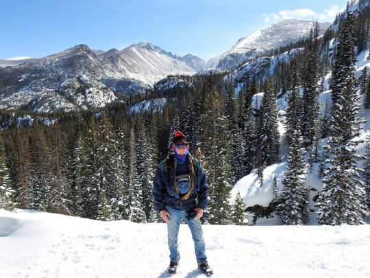 This photo of James Pruitt was taken Feb. 24 on the winter trail between Nymph and Dream lakes in Rocky Mountain National Park.  Rangers found the image as part of their investigation.