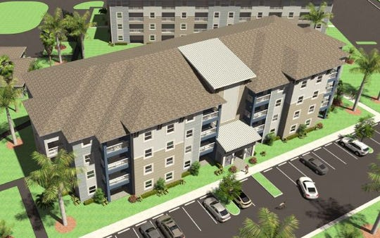 A rendering prepared by PDS Architecture shows potential apartment buildings off Savona Parkway West in southwest Cape Coral.