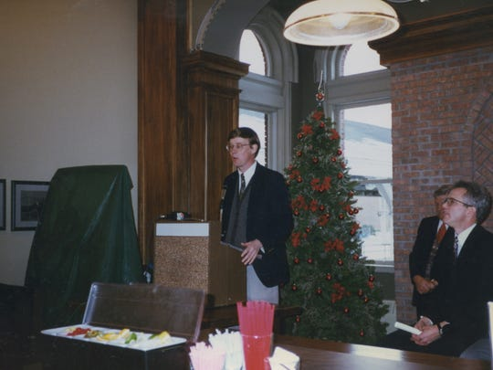 Presidential candidate John Hickenlooper co-founded Titletown Brewing Co. in 1996 with Brent Weycker and John Gustavson. Hickenlooper spoke at the grand opening of Green Bay's first brewpub in December 1996.