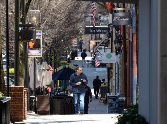 Main Street in downtown Greenville.