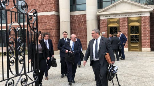 """The bottom line is they (SCANA executives) lied to everyone, and they did it intentionally,"" attorney John Browne, seen here coming out of court, told U.S. Judge Margaret Seymour."