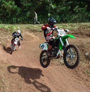 Blaze Aiken took second Sunday in the 250cc class Sunday in Umatac.