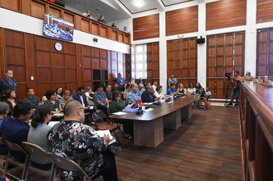 The Guam Department of Education budget hearing at the Guam Congress Building on March 5