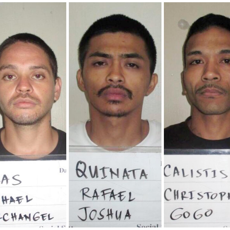 Christopher Calistis, Rafael Quinata, Michael Blas charged in alleged drug, stolen car case