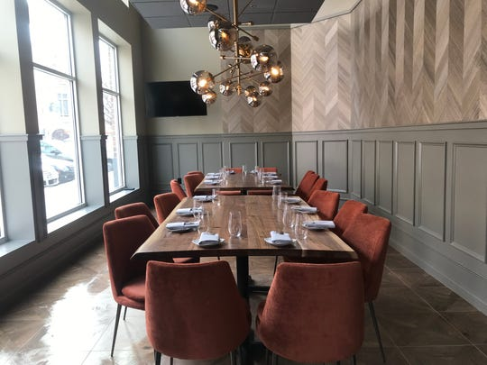The private dining room at LouVino on Mass Ave., Indianapolis.