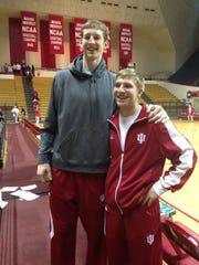 Jonny Marlin with roommate Cody Zeller