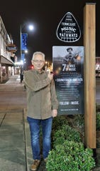 Lexington Native Buddy Cannon stood by the Tennessee Music Pathways marker placed in front of the Princess Theater in honor of the Grammy Award winner and country music producer/songwriter on Saturday, March 2, 2019 in Lexington.