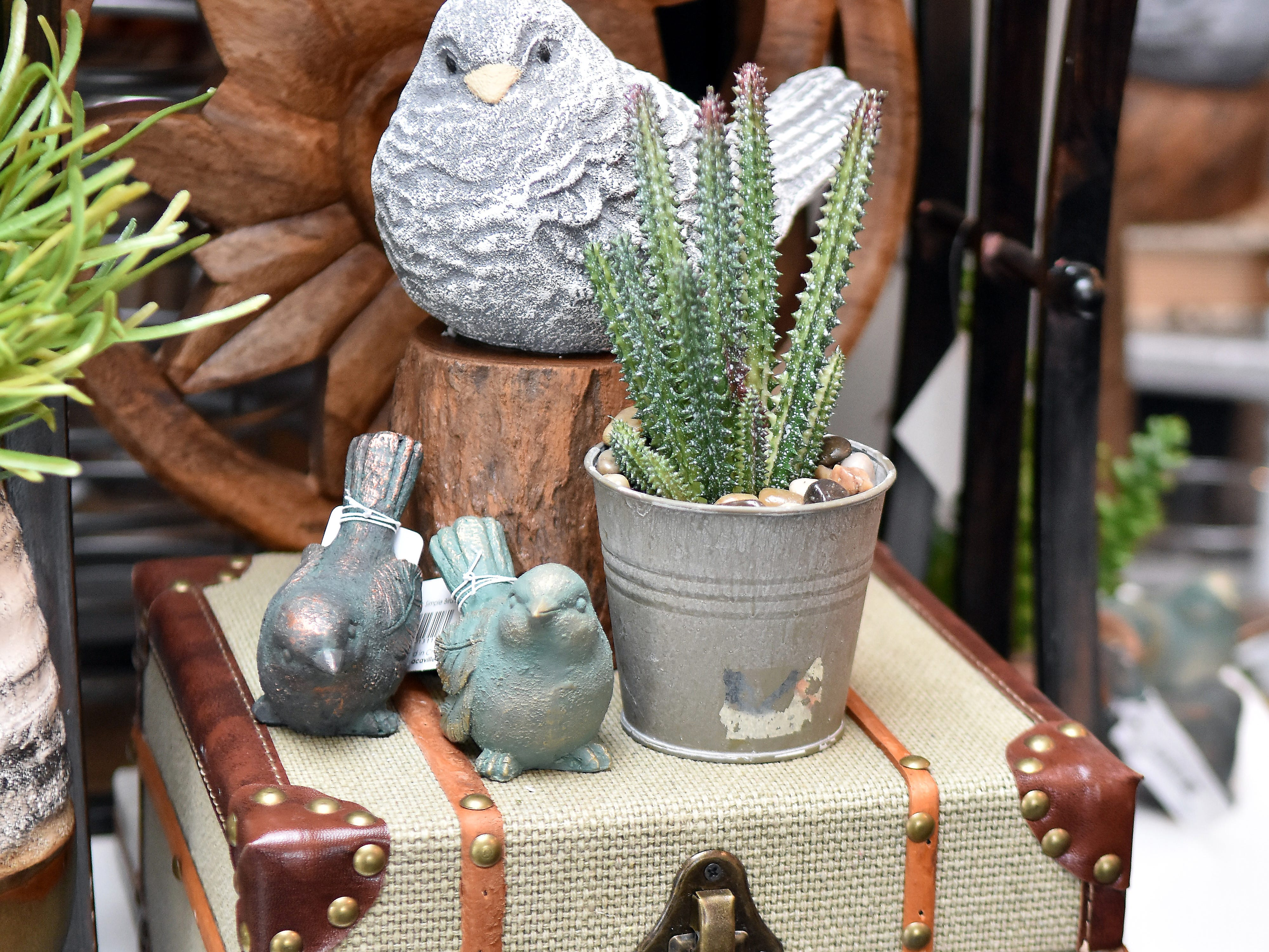 Real Deals offers so many little bird knick knacks. You can almost hear them chirp!
