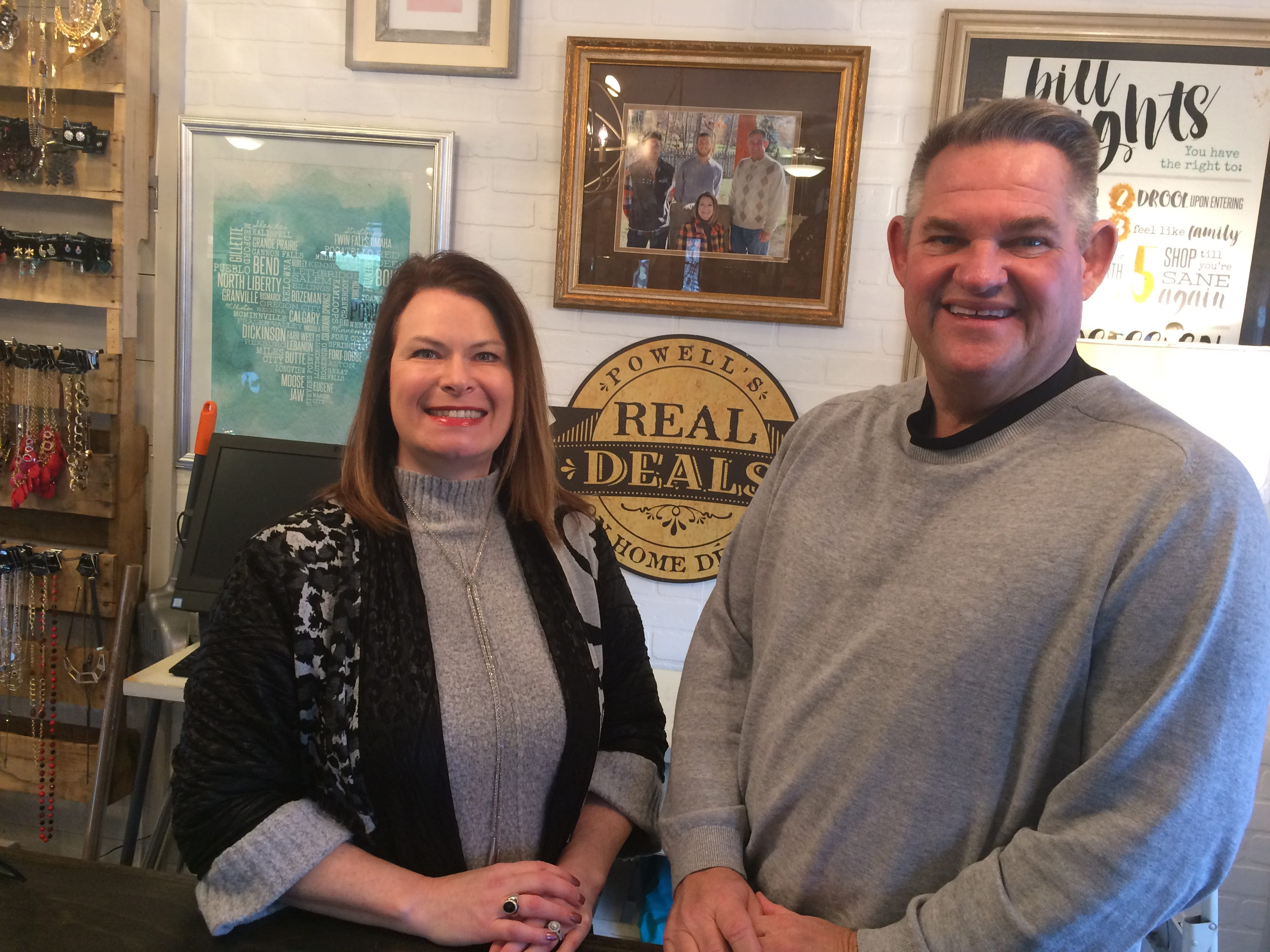 Kim Severance and her husband, Chuck, have their Real Deals home decor franchise ready for spring.