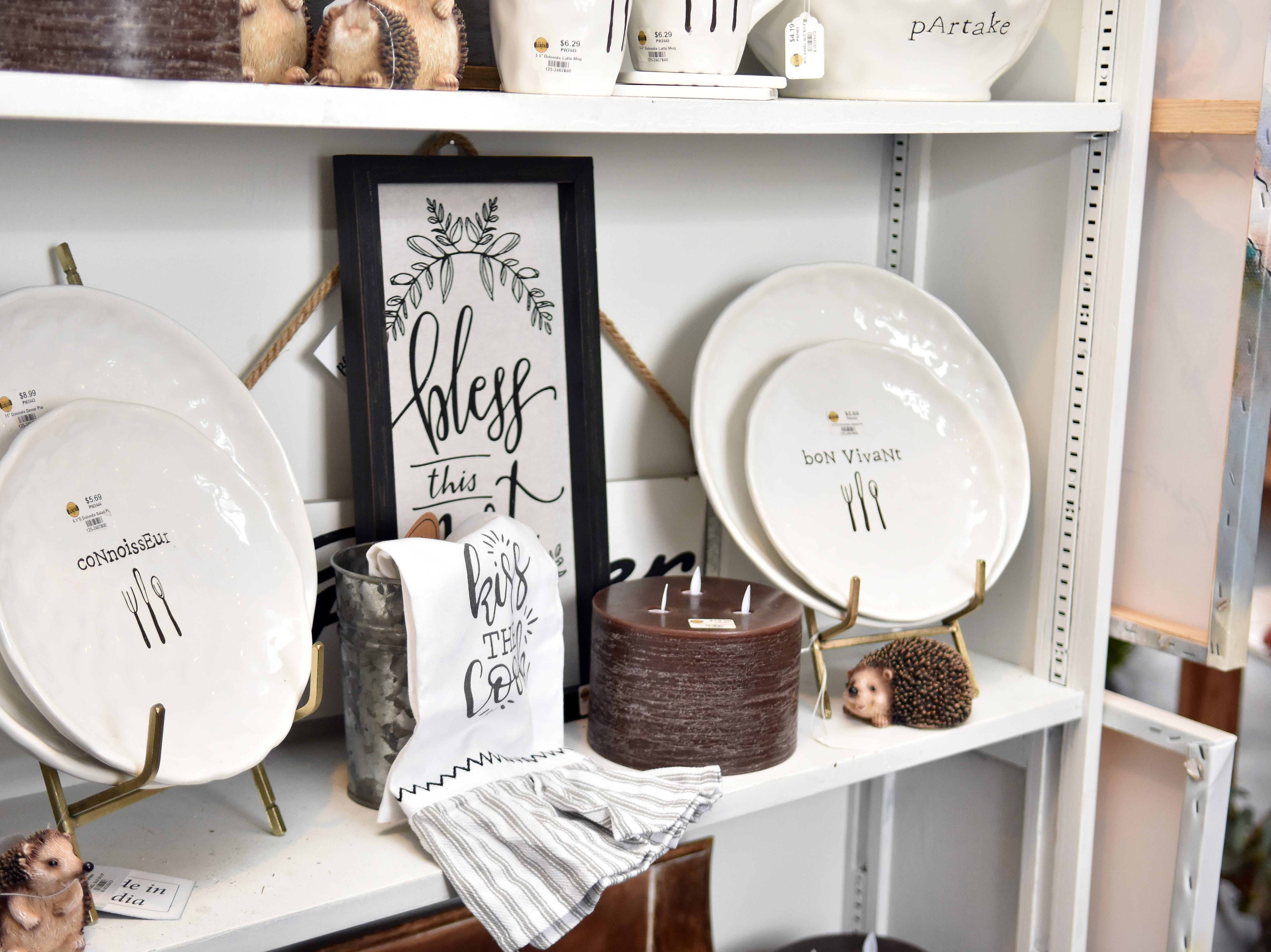 These plates add a fun element to any kitchen.