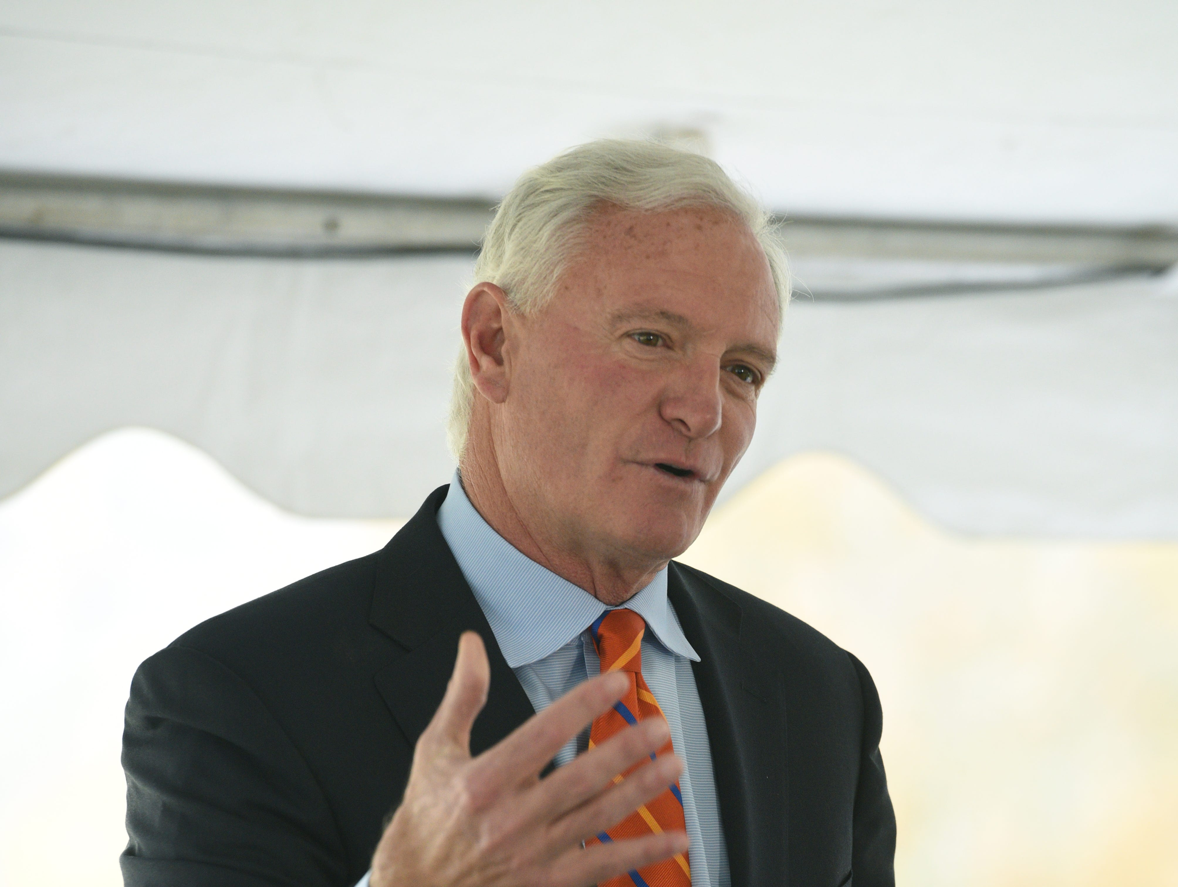 Jimmy Haslam announced a $15 million gift from his family and Pilot Flying J to begin a $25 million dollar fundraising campaign for Lakeshore Park Phase 1 Thursday, Nov. 5, 2015 on the property.