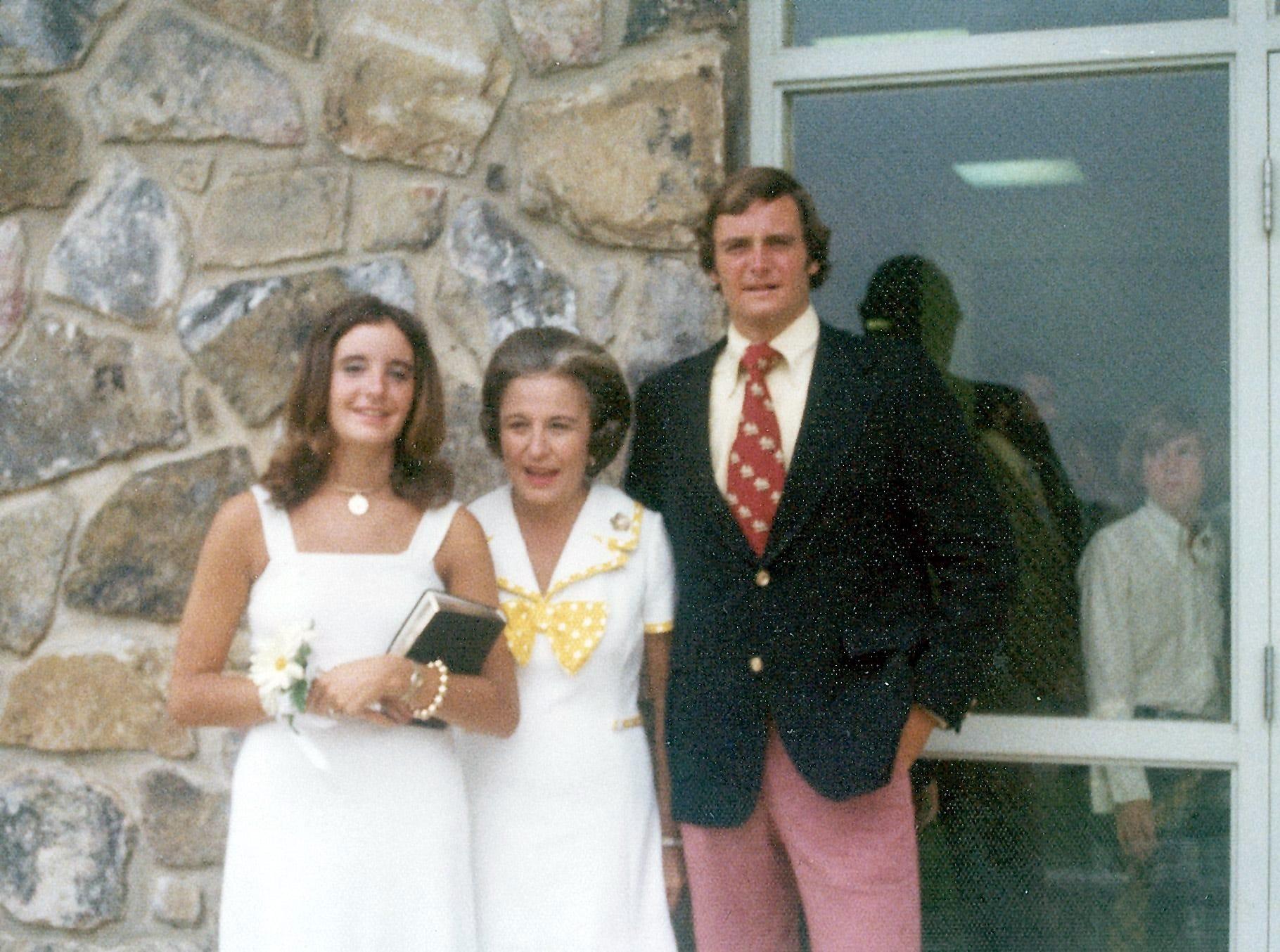 Ann, Cynthia, Jimmy Haslam June 1974.