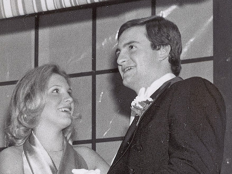 Dee and Jimmy Haslam, at the Nine O'Clock Cotillion in February 1978, a few years after their marriage.