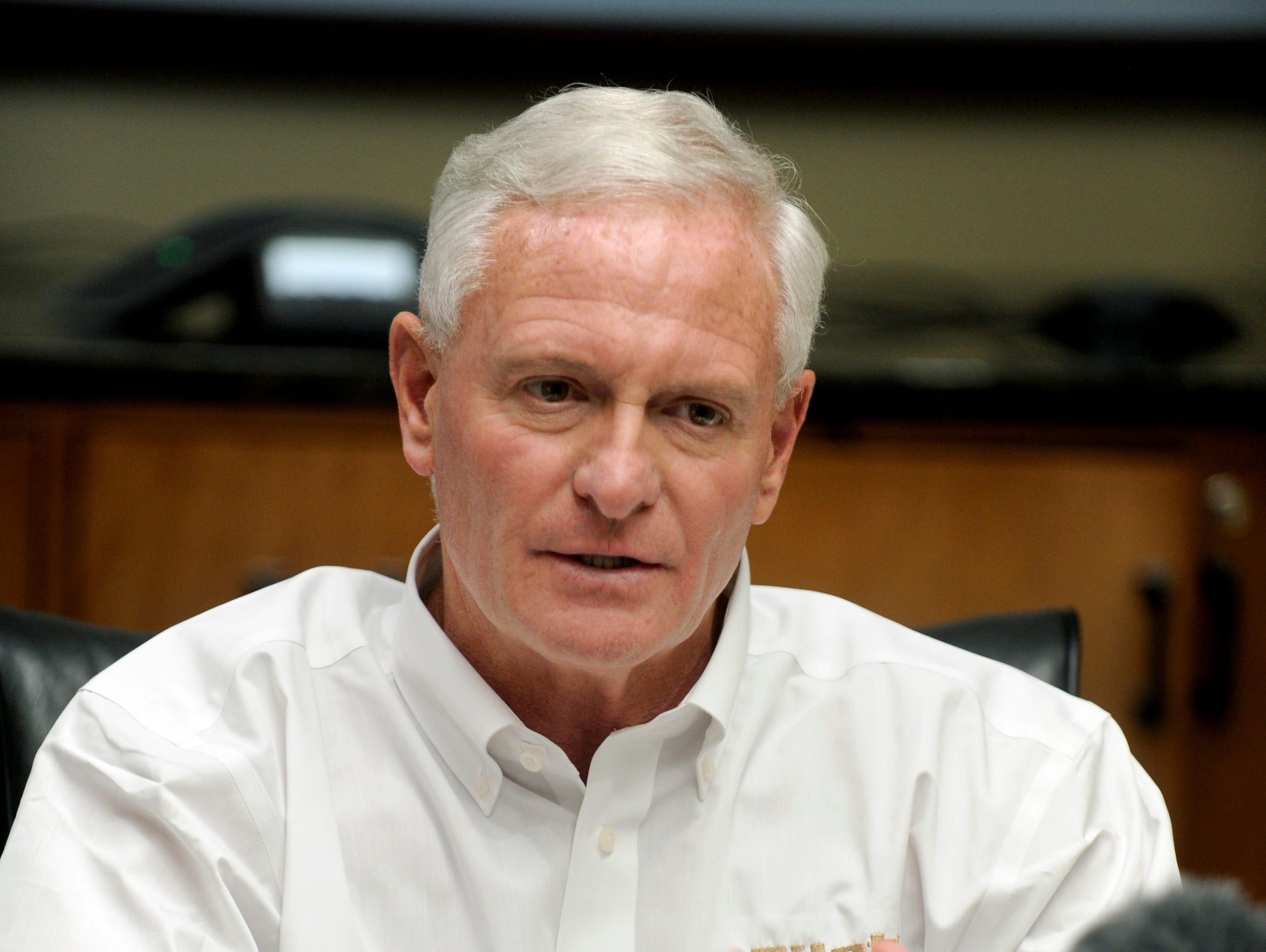 Pilot Flying J CEO Jimmy Haslam during a press conference Monday, Apr. 22, 2013 in the boardroom at their Knoxville headquarters.
