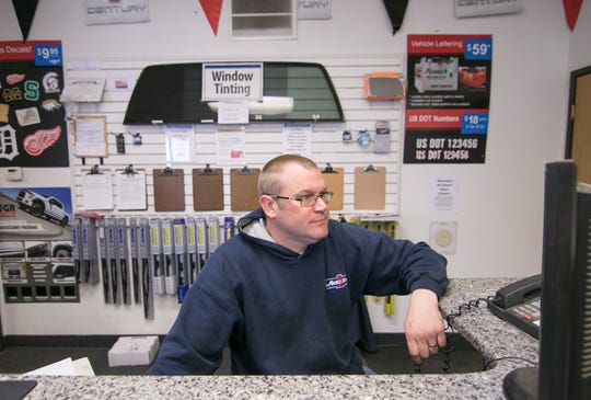 Ron Overbeck, co-owner of Auto One Glass & Accessories, shown Tuesday, March 5, 2019, says the Howell Township business will have to move due to neighboring Grand River Mini-Storage's upcoming expansion.