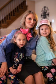 Melissa Edmondson poses with her daughters Savannah, 7 and RyAnn, 5. Feb. 6, 2019