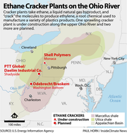 A look at ethane cracker plants on the Ohio River.