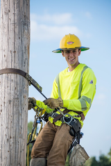 Manitowoc Lincoln High School student Peter Powalisz is working as an electrical apprentice at Manitowoc Public Utilities. He plans to enroll in NWTC's Power Distribution program.