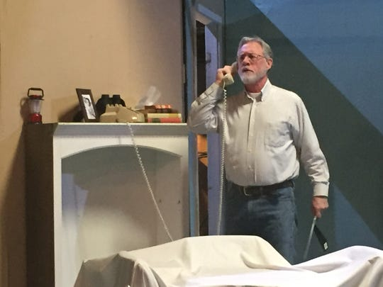 "Doug Wertz plays Norman Thayer in the Mansfield Playhouse production of ""On Golden Pond."""